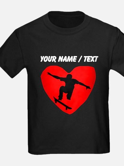 Custom Skateboarding Heart T-Shirt