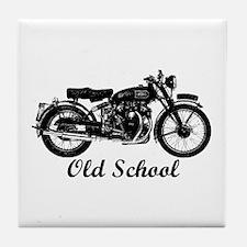 Old School Motorcycle Tile Coaster