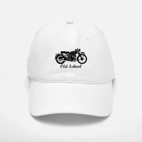 Old School Motorcycle Baseball Baseball Baseball Cap
