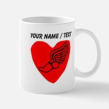 Custom Running Heart Mugs