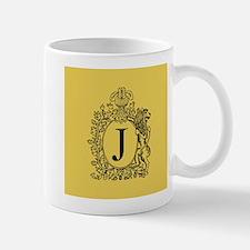 Gold Personalized Monogram Mugs