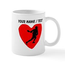 Custom Lacrosse Heart Mugs