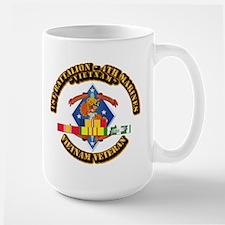 1st Bn - 4th Marines w VN SVC Ribbon Mug