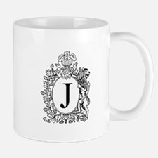 White J Personalized Monogram Mugs