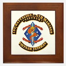 1st Bn - 4th Marines Framed Tile