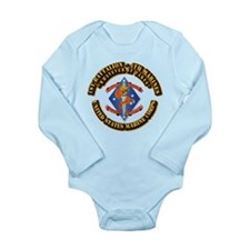 1st Bn - 4th Marines with Text Long Sleeve Infant