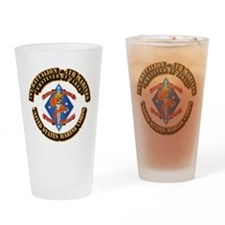 1st Bn - 4th Marines with Text Drinking Glass