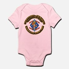 1st Bn - 4th Marines with Text Infant Bodysuit