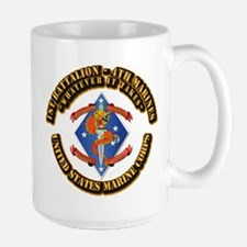 1st Bn - 4th Marines with Text Mug
