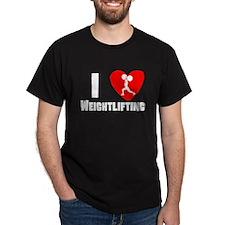 I Heart Weightlifting T-Shirt