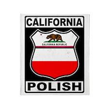 California Polish American Throw Blanket