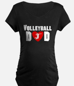 Volleyball Dad Maternity T-Shirt