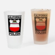 California Polish American Drinking Glass