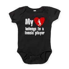 My Heart Belongs To A Tennis Player Baby Bodysuit