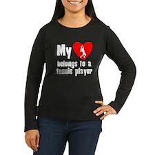 My Heart Belongs To A Tennis Player Long Sleeve T-