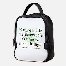 """Nature Made Marijuana Safe"" Neoprene Lunch Bag"