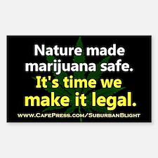 """""""Nature Made Marijuana Safe"""" Decal"""