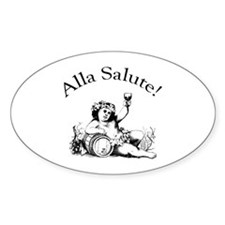 Alla Salute Oval Sticker