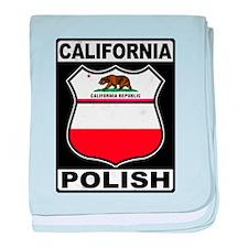 California Polish American baby blanket