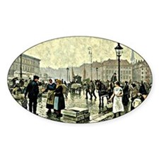 Paul-Gustave Fischer - Fish Market  Bumper Stickers