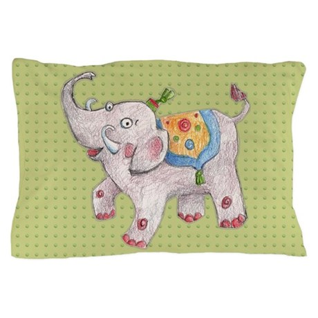 How To Make Cute Pillow Cases : Cute Elephant Pillow Case by doodlefly
