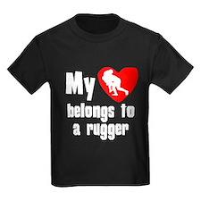 My Heart Belongs To A Rugger T-Shirt