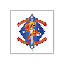 "1st Bn - 4th Marines Square Sticker 3"" x 3"""