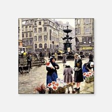 "Paul-Gustave Fischer - A Bu Square Sticker 3"" x 3"""