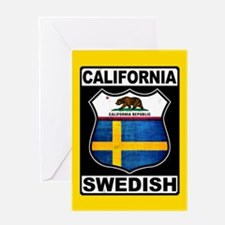 California Swedish American Greeting Cards