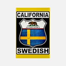 California Swedish American Magnets
