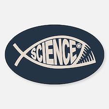 Science Fish II Sticker (Oval)