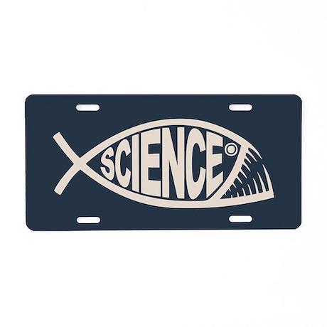 Science Fish II Aluminum License Plate