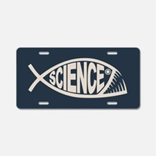 Science Fish II Aluminum License Plate