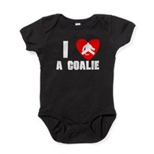 I Heart A Hockey Goalie Baby Bodysuit