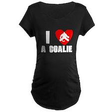 I Heart A Hockey Goalie Maternity T-Shirt