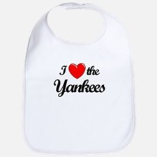 I Love the Yankees (black) Bib