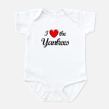 I Love the Yankees (black) Infant Bodysuit