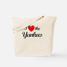 I Love the Yankees (black) Tote Bag