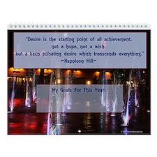 Personal Achievement Calendar Wall Calendar