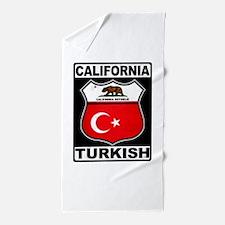 California Turkish American Beach Towel