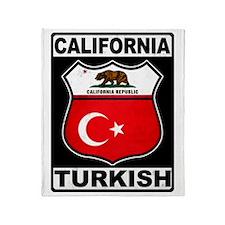California Turkish American Throw Blanket