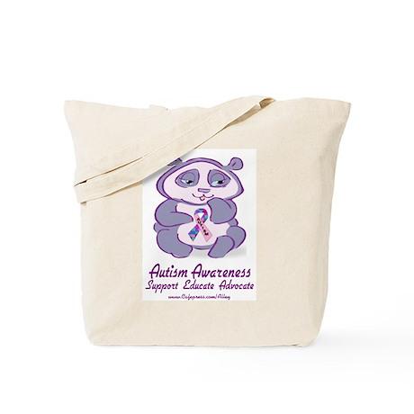 Autism Purple Bear Tote Bag