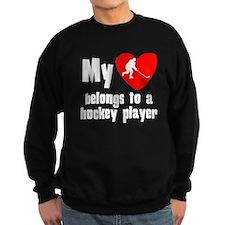 My Heart Belongs To A Hockey Player Jumper Sweater