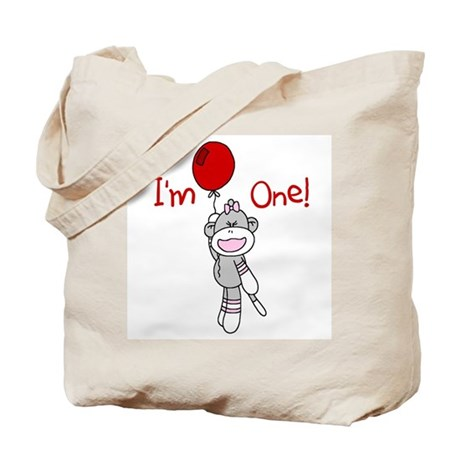 Sock Monkey 1st Birthday Tote Bag