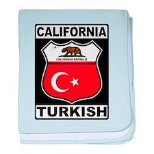 California Turkish American baby blanket