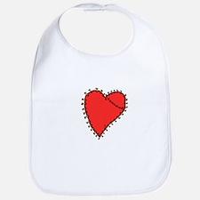 Homemade Valentine Heart Bib