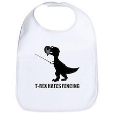 T-Rex Hates Fencing Bib