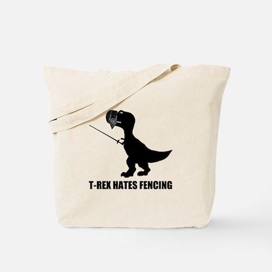 T-Rex Hates Fencing Tote Bag