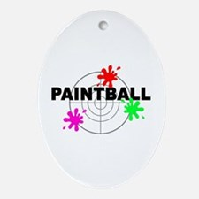Paintball Paintball Oval Ornament