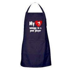My Heart Belongs To A Pool Player Apron (dark)